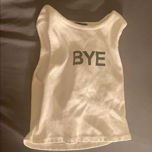 Bye crop top
